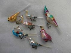 lot west germany antique mercury glass tree clip on bird