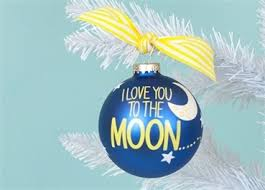 ornament i you to the moon and back glass ornament