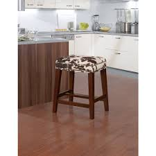 kitchen bar stools backless furniture backless cow print bar stools with nailhead and wooden