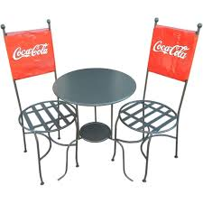 Coca Cola Chairs Coca Cola Bistro Table And Chairs Table Designs
