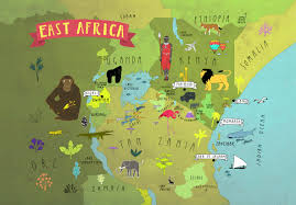 Map Of East Africa by Mapped East Africa