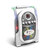 portable karaoke with built in light show the singing machine