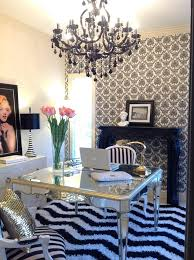 Marilyn Monroe Living Room by Molly Kate U0027s Arteriors Home Office With Faux Fireplace Mantle Glam