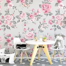 Pink Roses Wallpaper by Vintage Grey And Pink Rose Wallpaper Wallpaper Pinterest