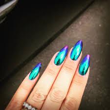 quickest nail foil tutorial ever oil slick metallic gradient