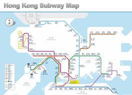 mtr map touring hong kong by subway and tram three routes