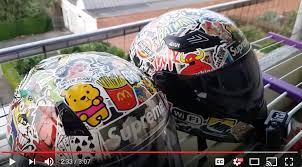 motocross helmet decals how to sticker bomb helmet