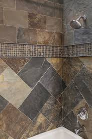 simple shower design using all natural slate tiles thetileshop