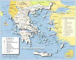 greece map political small map of greece nations project