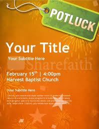 potluck flyer template free mentan info