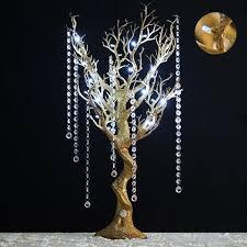manzanita tree branches glittered gold manzanita tree centerpiece for wedding party event