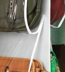 amazon com whitmor 6044 14 white hanging purse organizer home
