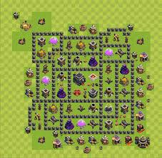 layout vila nivel 9 clash of clans clash of clans base plan layout for trophies town hall level 9