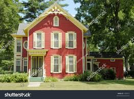 red farm house old farmhouse country stock photo 1535213