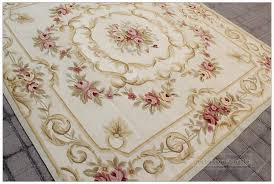 7 X 7 Area Rugs Outstanding Vintage Aubusson Needlepoint Area Rug Home
