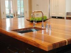 kitchen island wood countertop wood kitchen countertops pictures ideas from hgtv hgtv