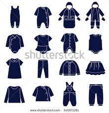 icon set types clothes babies there stock vector 345971261