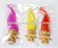 party favours 4cm lucky troll with key chain birthday party favours vending gift
