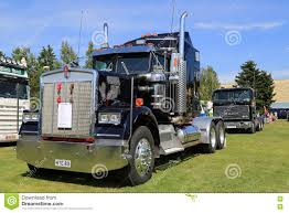 kenworth 2016 dark blue kenworth w900 truck tractor editorial image image
