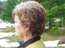 highlights and lowlights for graying hair woman s short layered cut with highlights and lowlights brent g