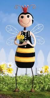 Bee Garden Decor Grandma Grandparents Garden Statue Adorable Statuette For Your