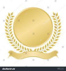 Seal Ribbon Blank Gold Seal Ribbon Banner Award Stock Vector 17359984
