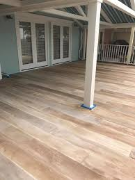 concrete floor stained to look like a wood floor i this