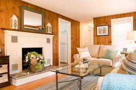 Coastal Cottage Living Rooms by Beach Cottage Living Room Traditional Living Room Boston