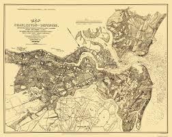 Charleston Zip Code Map by Civil War Map Charleston U0026 Defenses 1863