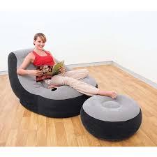 original intex inflatable single seat air sofa foot rest air