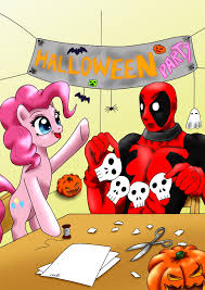 pinkie pie and deadpool does halloween by ciriliko deadpool