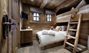 Modern Rustic Bedrooms - modern rustic bedroom idea with unique bunk bed design for comfy