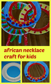 african necklace craft for kids african necklace africans and craft