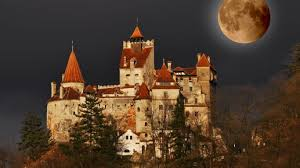 vlad the impaler castle 1366x768 bran castle full moon romania desktop pc and mac wallpaper