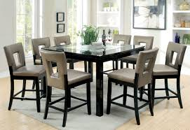 Tall Dining Room Sets Hokku Designs Vanderbilte 9 Piece Counter Height Dining Set
