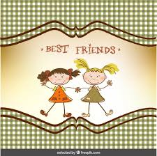 best friend greeting card vector free download