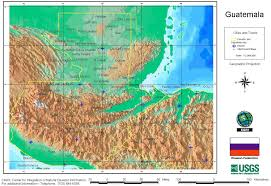 Arizona Elevation Map by Nationmaster Maps Of Guatemala 9 In Total