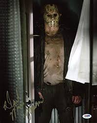 Friday 13th Halloween Costumes Derek Mears Friday 13th Jason Signed Authentic 11x14 Photo