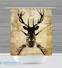 Deer Shower Curtains Hunting Shower Curtain Pmcshop