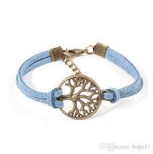 gift tree free shipping new wish tree bracelet antique silver wish tree pendant leather
