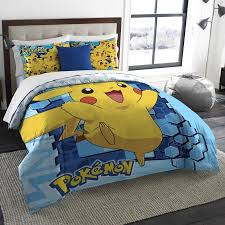 How Big Is A Twin Comforter Pokemon Big Pika Twin Full Bedding Comforter Set Comes With