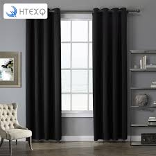 Black Gray Curtains Luxury Modern Solid Gray Black Purple Color Top Quality