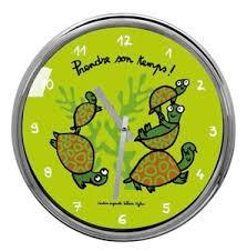 horloge cuisine originale horloge originale tortue déco derrière la porte