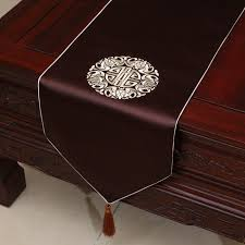 luxury damask table runner lucky embroidery table runner cover cloth chinese knot luxury damask