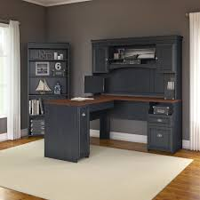 Computer Desks With Hutch by Beachcrest Home Oakridge L Shaped Executive Desk With Hutch And 5
