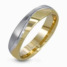 wedding rings for him two tone wedding bands