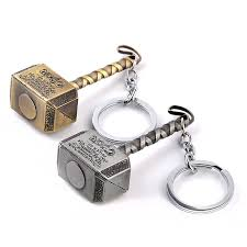 50 pieces lot the avengers thor hammer keychain key chain metal