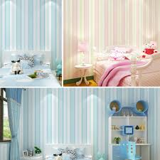 6263 modern stripe wallpaper blue pink non woven wall paper for
