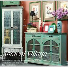 french country vintage wood glass buffet sideboard sideboard
