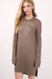 cute taupe dress long sleeve dress dark teal sweater taupe